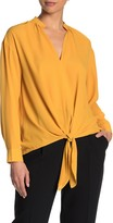 Pleione Long Sleeve Tie Front Blouse
