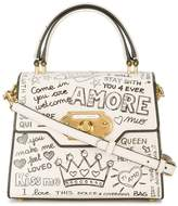 Dolce & Gabbana welcome printed leather bag