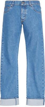 Prada Mid-Rise Straight-Leg Jeans Size: 30