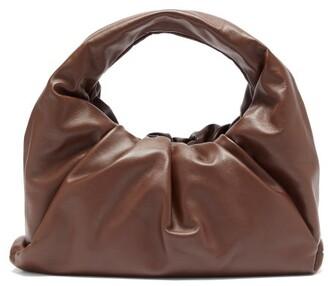Bottega Veneta The Shoulder Pouch Small Leather Bag - Dark Brown