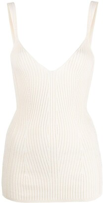Dondup Ribbed-Knit Sleeveless Top