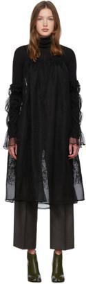 Renli Su Black Cold-Shoulder Dress