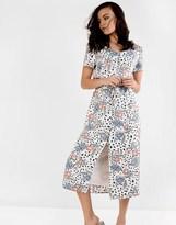 Glamorous Button Up Front Midi Dress