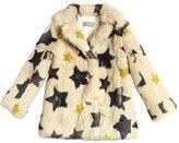 Yves Salomon Enfant Stars Printed Rabbit Fur Coat