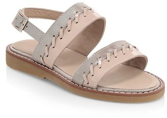 Elephantito Baby's, Little Girl's & Girl's Larissa Whipstitch Leather Slingback Sandals