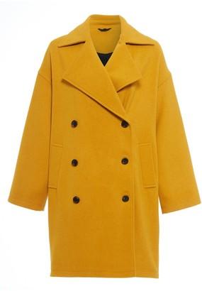 NATIVE YOUTH Mustard Oversized Creator Coat - XS - Yellow