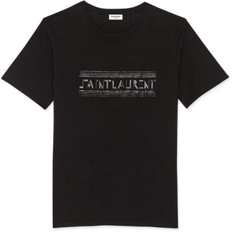 Saint Laurent Bauhaus Logo T-Shirt