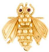 Tiffany & Co. 18K Ruby Bee Brooch