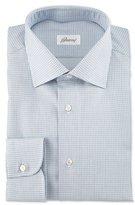 Brioni Textured-Check Long-Sleeve Sport Shirt, Light Blue
