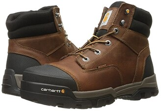Carhartt 6 Ground Force Waterproof Non-Safety Toe Work Boot (Brown Oil Tanned Leather) Men's Work Lace-up Boots