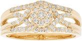 MODERN BRIDE Womens 3/8 CT. T.W. Round White Diamond 10K Gold Engagement Ring