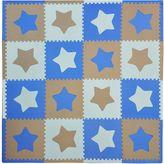 Tadpoles TadpolesTM by Sleeping Partners Stars 16-Piece Playmat Set in Blue/Grey