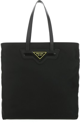 Prada Logo Plaque Shopper Bag