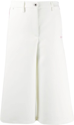 Off-White Contrasting Trim Culottes