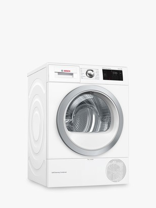 Bosch WTWH7660GB Heat Pump Tumble Dryer, 9kg Load, A++ Energy Rating, White