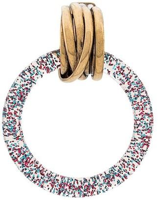 Balenciaga Glitter-Effect Hoop Earrings