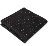 Shlax & Wing Polka Dots Chocolate Pocket Square Mens Hanky Business