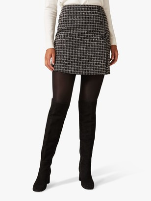Phase Eight Patch Tweed Skirt, Grey