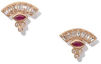 Marquis Michelle Fantaci Ruby Fan Earrings