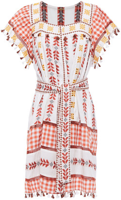 Dodo Bar Or Broderie Anglaise-trimmed Paneled Cotton-jacquard Mini Dress