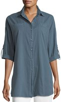 XCVI Ashlie Cotton Twill Button-Front Shirt
