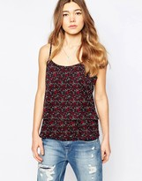 Only Floral Cami Top With Strappy Back
