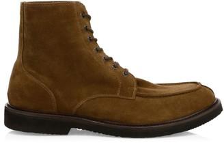 Eleventy Split Toe Suede Oxford Boots