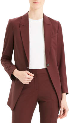 Theory Etiennette One-Button Good Wool Suiting Jacket