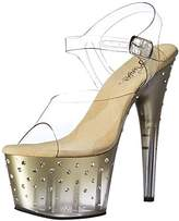 Pleaser USA Women's Stdus708t/c/g-c Platform Sandal