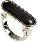 Belle Noel by Kim Kardashian Egyptian Black Ring Silver