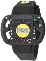 Ferrari Scuderia Quartz Resin and Silicone Casual Watch, Color:Black (Model: 0810013)