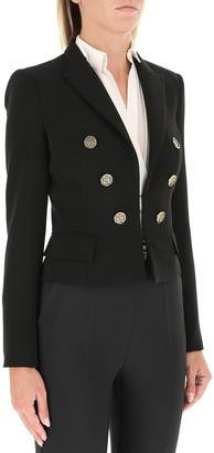 Elisabetta Franchi Button Detail Cropped Jacket