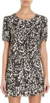 Etoile Isabel Marant Madlyn Animal Print Chiffon Dress