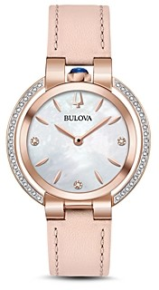 Bulova Rubaiyat Rose Gold-Tone Watch, 35mm