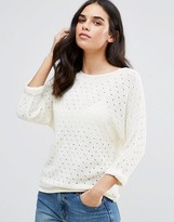 Vila 3/4 Textured Knitted Sweater