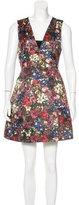 Alice + Olivia Floral Print A-Line Dress