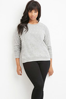 Forever 21 Plus Size Faux Pearl Heathered Sweatshirt