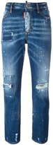 DSQUARED2 Los Angeles cropped jeans - women - Cotton/Polyester - 36