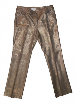 Chanel Gold Linen Trousers