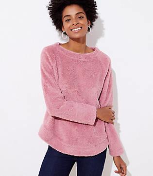LOFT Petite Fleece Sweatshirt