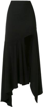Thierry Mugler Draped High-Low Skirt