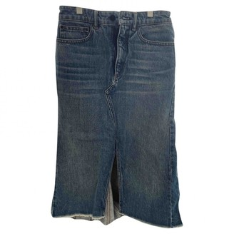 Alexander Wang Blue Denim - Jeans Skirt for Women