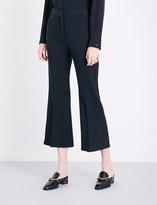 Stella McCartney Angel cropped flared stretch-wool trousers