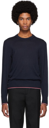 Thom Browne Navy Cashmere Classic Crewneck Sweater