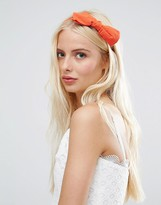 Johnny Loves Rosie Burnt Orange Big Bow Headband