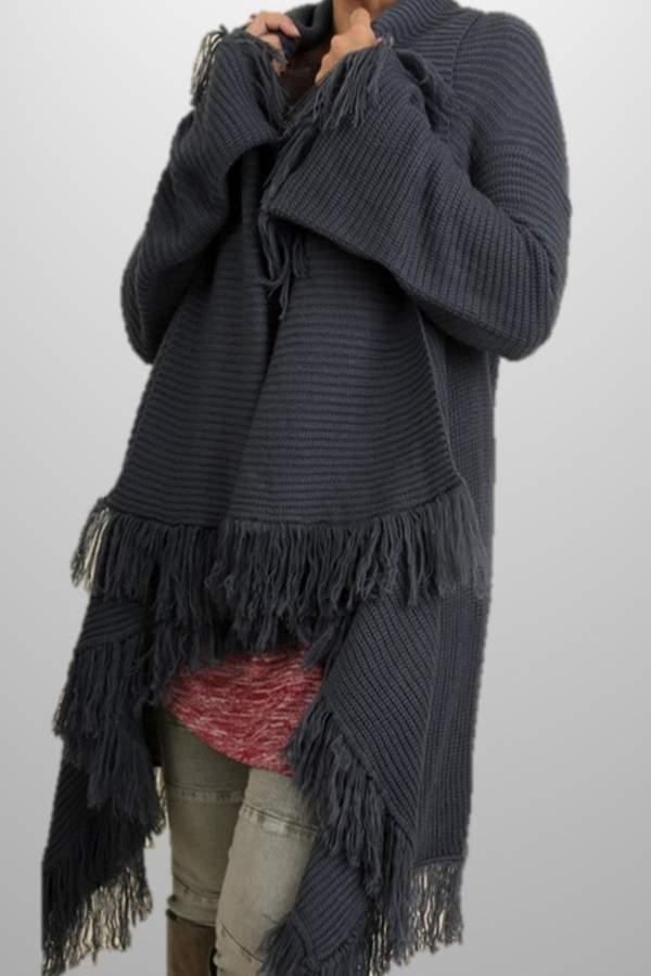 Umgee USA Fringe Sweater Shawl