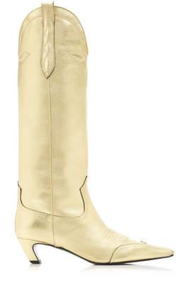 Khaite Dallas Metallic Knee High Boots