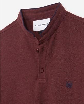 The Kooples Slim-fit burgundy polo officer collar+slits