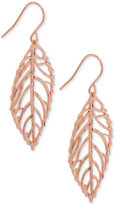 Giani Bernini Leaf Drop Earrings in 18k Rose Gold-Plated Sterling Silver, Only at Macy's