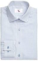 Lorenzo Uomo Men's Trim Fit Textured Check Dress Shirt